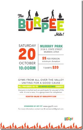 burpee mile poster