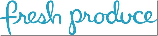 Fresh Produce Logo in Blue