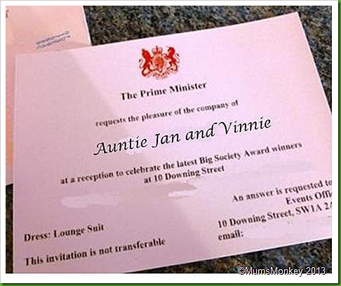 Invite to 10 Downing Street.