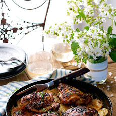 One Pan Rotisserie Chicken on Potato Gratin & a Giveaway!