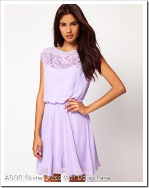 image1xlASOS Skater Dress With Daisy Lace