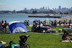 We went down to Crissy Fields to watch the Fleet Week airshow