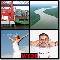 WIDE- 4 Pics 1 Word Answers 3 Letters