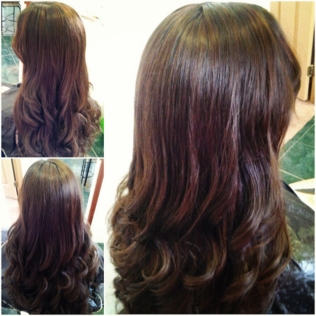 lowlights in brown hair before and after before and after