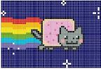 картинки кошки рисунок клетки