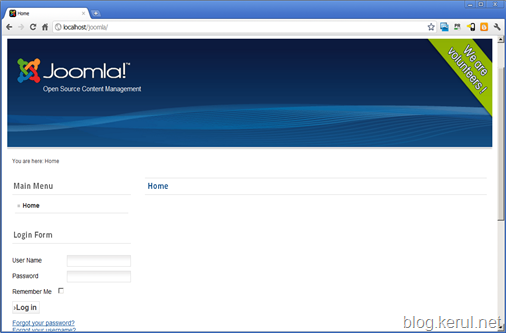 pasang Joomla! 1.7 - laman web awal