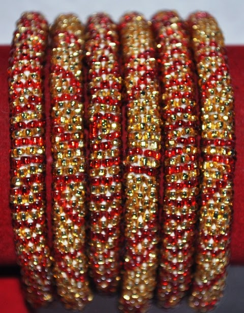 Glass Bead Bracelets Wedding color