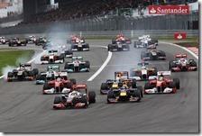 La partenza del gran premio di Germania 2011