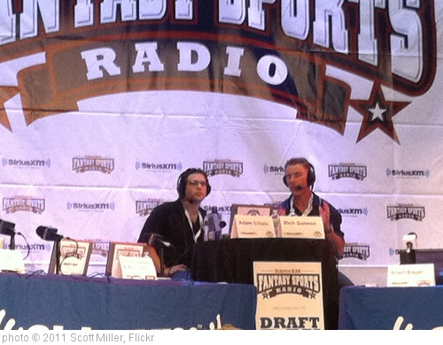 'Rich Gannon and Adam Schein at the Sirius Celebrity Fantasy Football Draft 2011' photo (c) 2011, Scott Miller - license: http://creativecommons.org/licenses/by-nd/2.0/