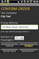 Screenshot of TAP4TAXI