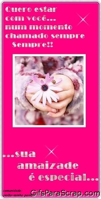 Mensagem e flores Quero estar com você num momento