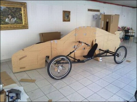 Porsche Car made from a Bicycle 15