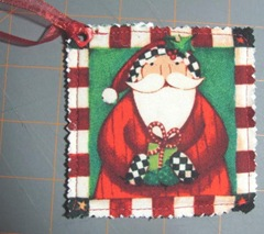 2011 Christmas fabric gift tag santa 1