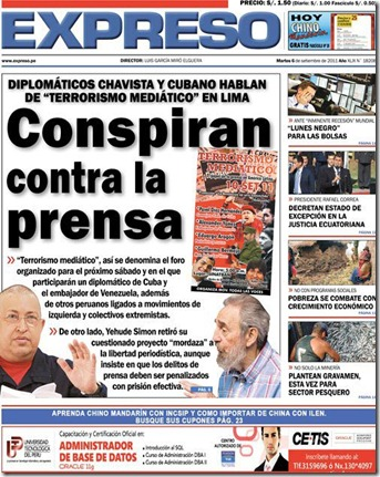 Conspiran contra la prensa