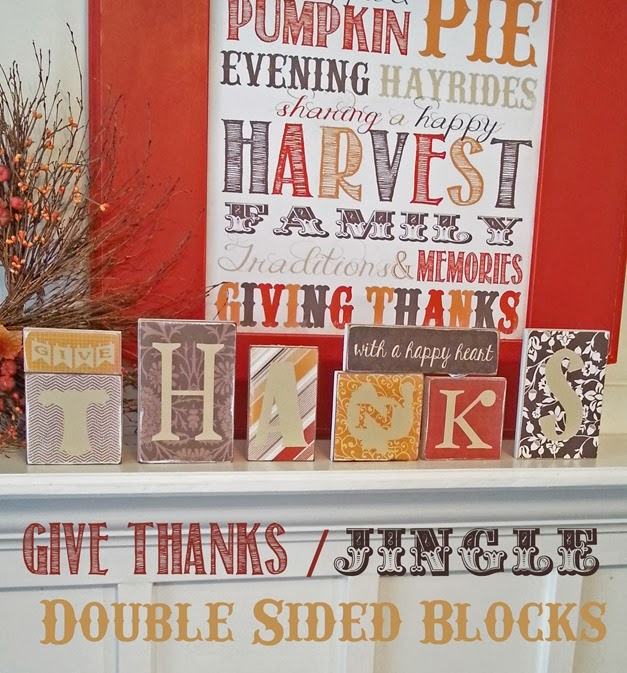 Super Saturday Holiday Craft Ideas - Double Sided Blocks