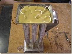 candle pour