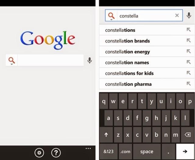 Google para Windows Phone