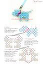 Украшения из бисера и натуральных камней :: Версия для печати :: Схемы объемных фигурок из бисера.