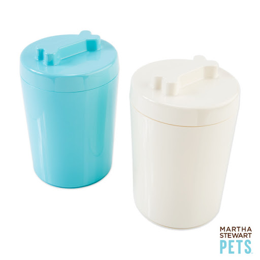 These treat jars are sleek and simple. (Petsmart.com)