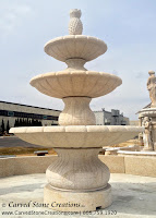 Playa Vista 3-Tier Fountain, D84 Giallo Fantasia Granite