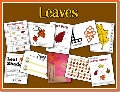 Free Leaves Activity Fall PreK Pack