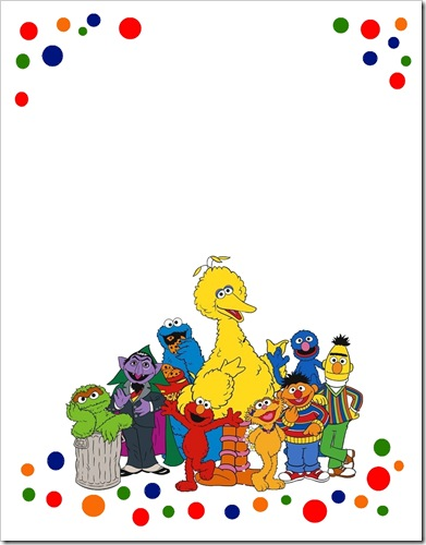 Sugar And Shimmer Sesame Street Party Invitations with