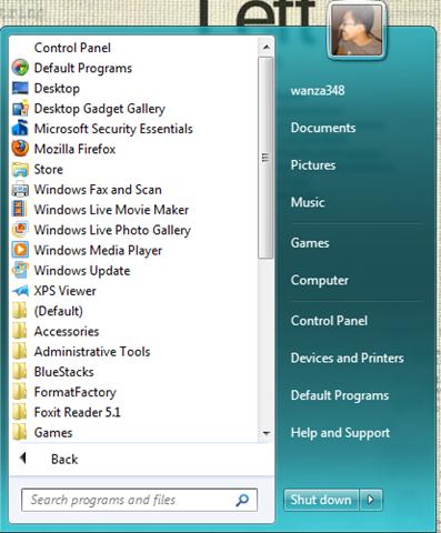 Ubah paparan menu 'Start' Windows 8 kepada gaya Windows 7