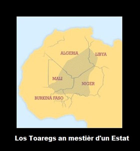 Mapa Toareg