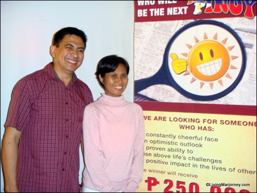 2010 Happiest Pinoy winner Winston Maxino with Runner Up Nona Andaya-Castillo