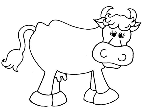 desenhos vaca para colorir