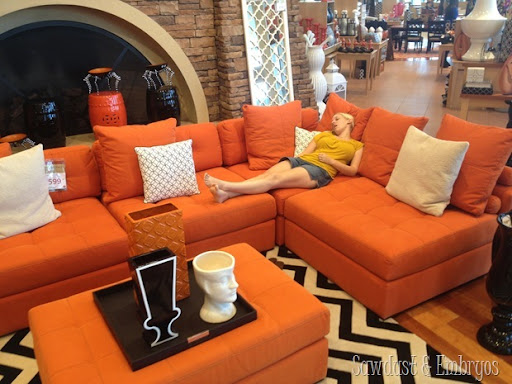 phonepics 168 : orange sectional - Sectionals, Sofas & Couches
