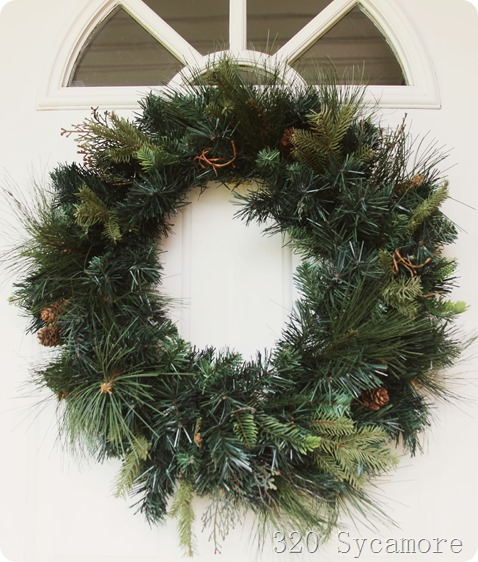 green pine wreath