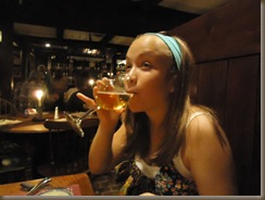 Emily with cider