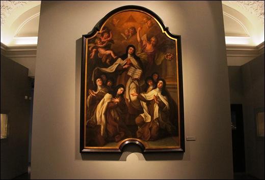 Gloria Ishizaka - museu de são roque - sala do museu - imposição da Regra por Santa Teresa de Ávila