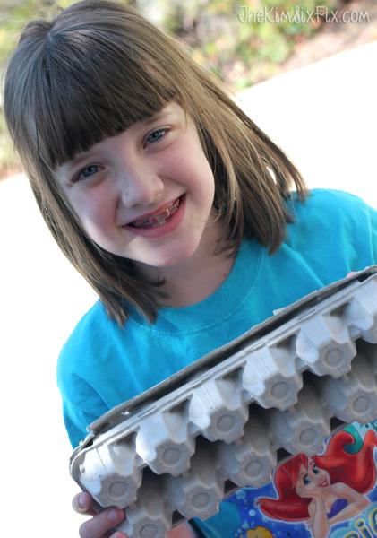 Kids egg carton craft