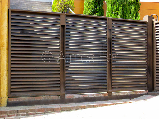 Portail et clôture acier peinture au mica