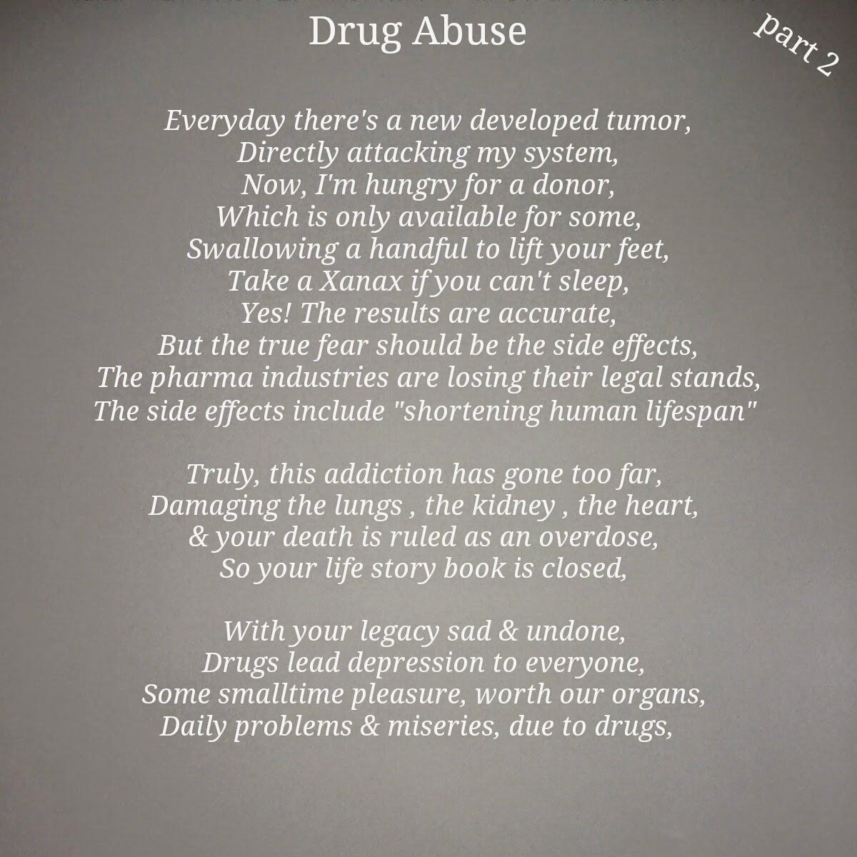 poem dear heroin addicted
