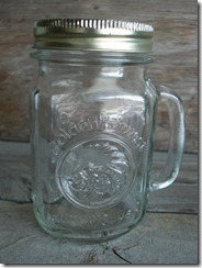 Golden Harvest drinking jar