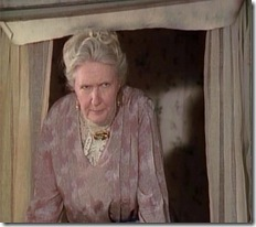 Patricia Hamilton as Rachel Lynde in Road to Avonlea