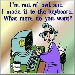 Я уже проснулась и добралась до клавиатуры... Что вам еще надо?