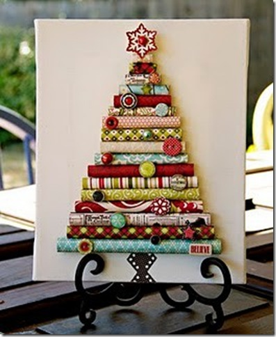 cute christmas paper tree