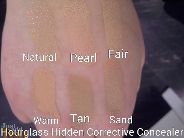 Hourglass Hidden Corrective Concealer Stick Review & Swatches of Shades Natural Pearl Fair warm tan sand
