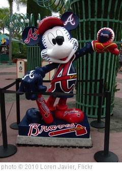 'Mickey Mouse Atlanta Braves Statue in the Western Esplanade/Downtown Disney' photo (c) 2010, Loren Javier - license: http://creativecommons.org/licenses/by-nd/2.0/