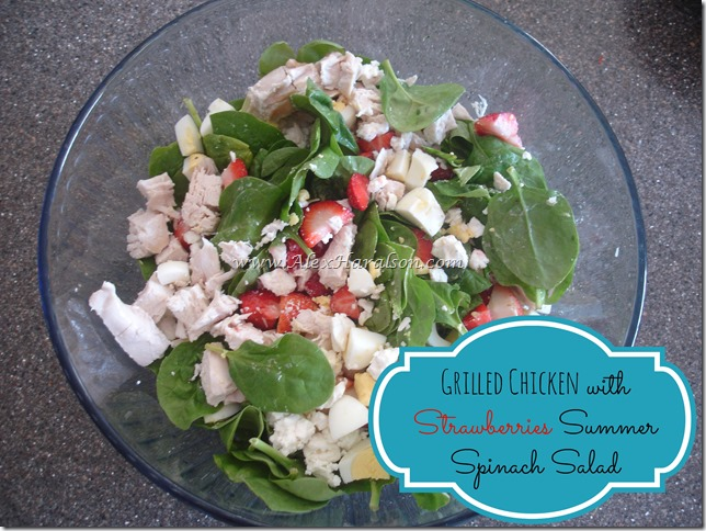 grilled chicken strawberry salad