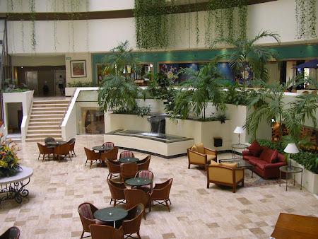 Exotic hotels: Hyatt hotel lobby