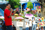 Greg Ratin of Bagong Alyansang Makabayan - Negros calls on the people to unite against human rights violations perpetrated by the present administration. (Photo by Owen S. Bayog/Bulatlat.com)