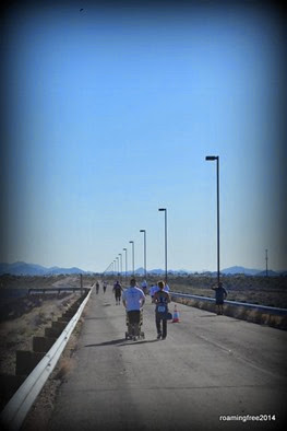 Runners and Walkers on the Dam