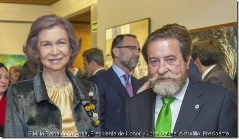 S.M. la Reina doña Sofía, Presidenta de Honor y José Gabriel Astudillo, Presidente