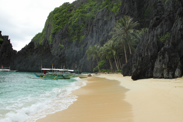 One of the many small and beautiful beaches near El Nido, Philippines