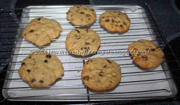 Microwave  vs Convectrion Cookies baked - dough chilled